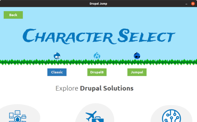 Drupal Jump Menu Screen